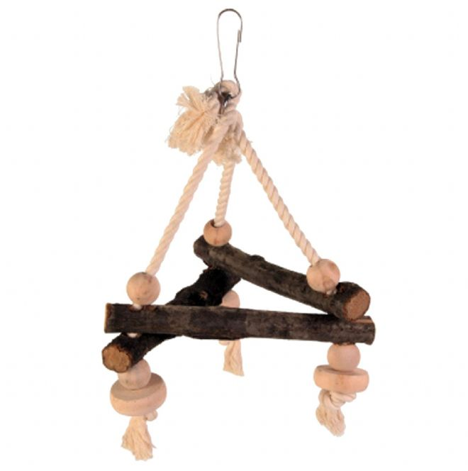 Pet Ting Triangular Wooden Rope Swing - Small